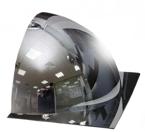 1/2 купольного полусферического зеркала DL 600 мм с внешним напылением, без канта