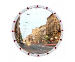 Зеркало уличное Detex Line, 1190 мм, со светоотражателями