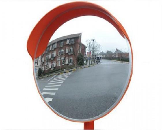 Зеркало 600 мм универсальное с козырьком